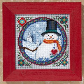 Southern Snowman-JS149102- by Mill Hill
