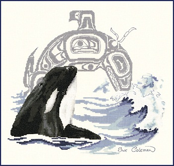 Killer whale by Stitching Studio