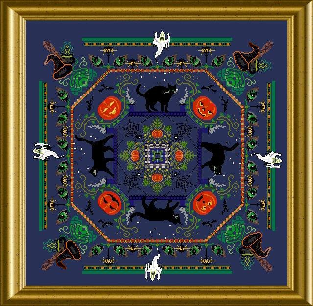Halloween Kitty Mandala by Chatelaine-DELICA beads pack