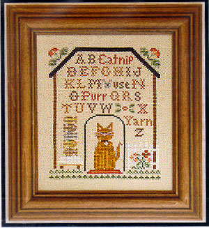 Kitty Cottage Sampler by Little House of Needleworks
