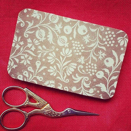 Pomegarante and vines scissor box by Madame Needle