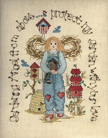 Sue Hillis Designs Gardening angel