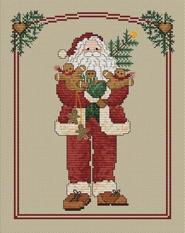 Sue Hillis Designs Gingerbread Santa