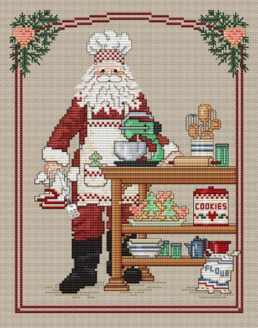 Cookie Santa by Sue Hillis Designs