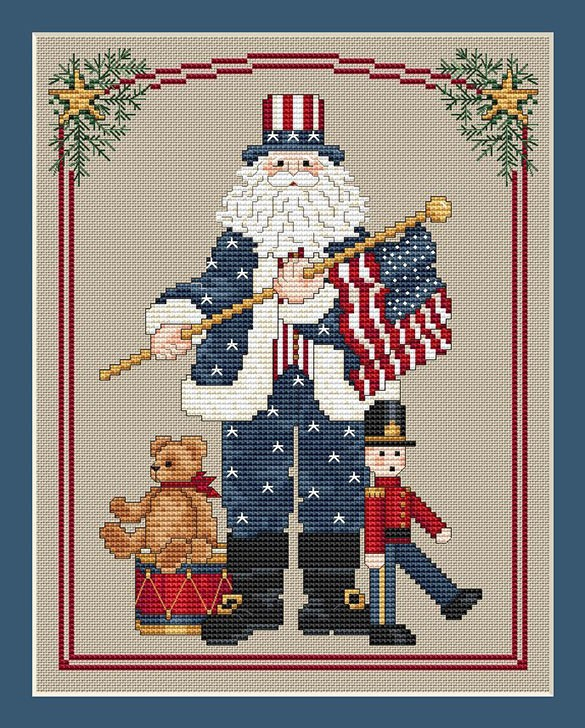 PAtriotic Santa by Sue Hillis Designs