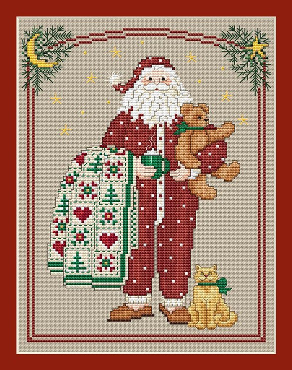 Pajama Santa by Sue Hillis Designs