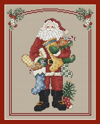 Stocking Santa by Sue Hillis Designs