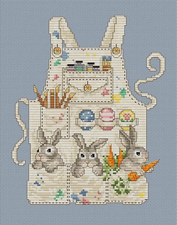 Easter Bunny's apron by Sue Hillis Designs
