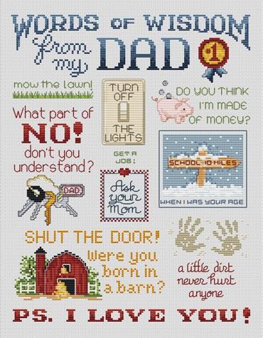 Sue Hillis Designs Love from Dad