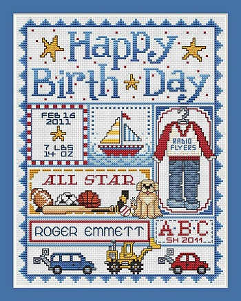 Sue Hillis Designs Happy birthday (boys)