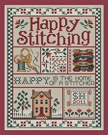 Sue Hillis Designs Happy stitching