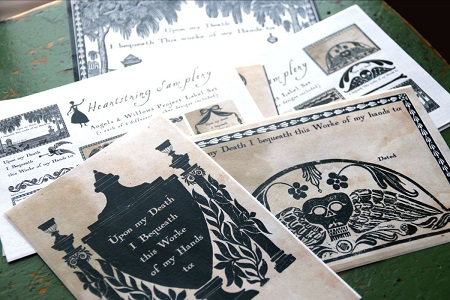 Heartstring Samplery A Stitcher's Bequest Project Labels