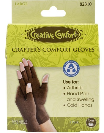 Creative Comfort Crafter's Comfort Gloves 1 Pair-Large-by Dritz