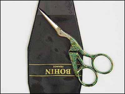 Large stork embroidery scissors by Bohin