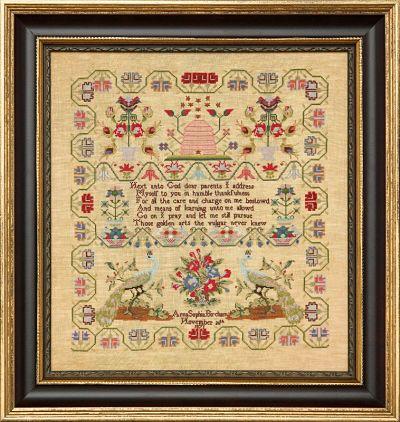 Hands Across the Sea Anna Sophia Bircham 1871 - Au ver Soie silk threads pack only