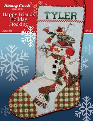Happy friends holiday stocking by Stoney Creek