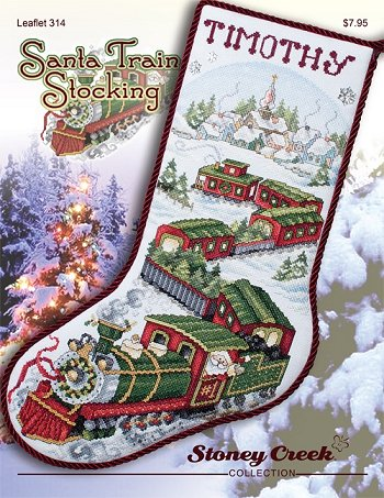 Santa train stocking by Stoney Creek