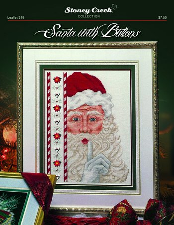 Santa with buttons by Stoney Creek
