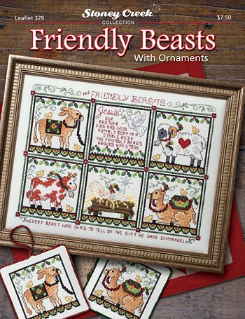 Friendly beasts with ornaments by Stoney Creek