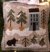 Snowy pines by Little House needleworks