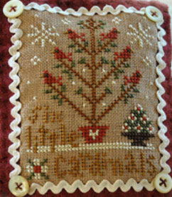Six little cardinals by Little House needleworks