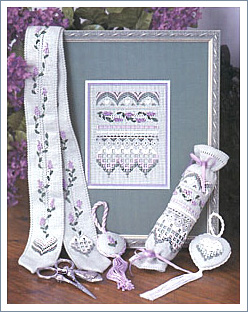 Lilac Chatelaine Sampler by The Victoria Sampler