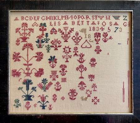Shakespeare's Peddler Lisabetta's Marking Sampler