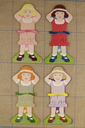 Little girl thread cards Complete family 1 by Sajou