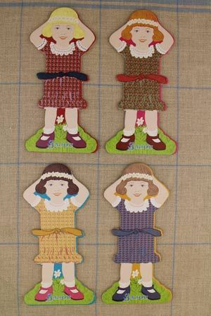 Little girl thread cards complete family 3 by Sajou