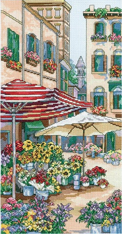 Flower market by Janlynn