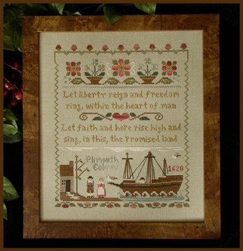 Mayflower Landing by Little House of Needleworks