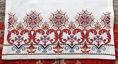 Avlea Milanese floral border sampler