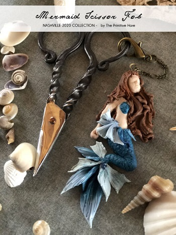 Mermaid scissor fob by The Primitive Hare