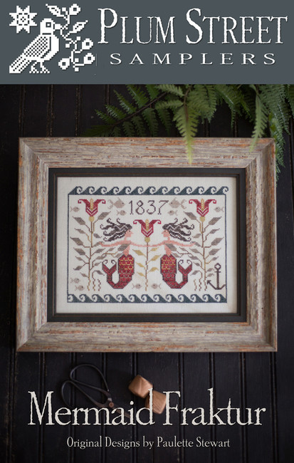 Mermaid Fraktur by Plum Street Samplers