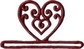 MILL HILL Red FilEgree Heart BELLPULL,MHMMH1