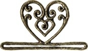 MILL HILL Antique Gold Filagree Heart BELLPULL,MHMMH2