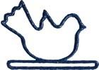 MILL HILL BLUE SPRING BIRD BELLPULL,MHMSB