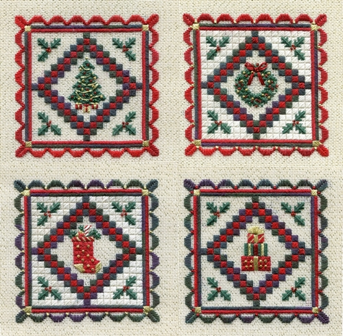 MINIATURE HOLIDAY QUILTS by Laura J.Perin Designs