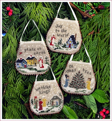 Mini purse ornaments by The Victoria Sampler