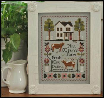 Mrs. O'leary's Dairy Farm by Little House of Needleworks