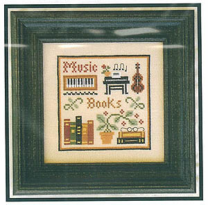 Music & Books (Simple Sampler) by Little House of Needleworks