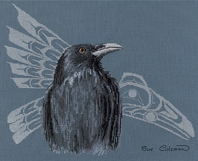 Native raven by Stitching Studio