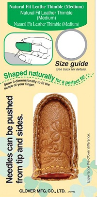 Natural Fit Leather Thimble Large by Clover