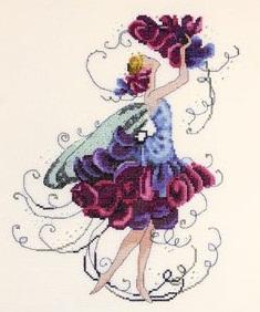 Sweet Pea Spring Garden-NC131- by Nora Corbett
