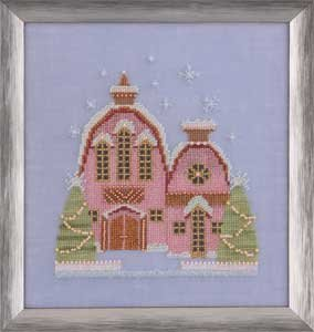 Little Snowy Pink Cottage-NC162-Nora Corbett