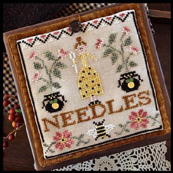 Pretty In Perle-Needle Lady Pocket by Little House of Needleworks