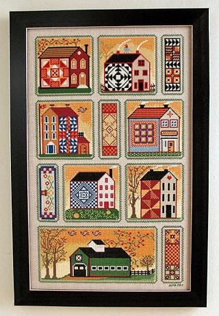 Annie Beez Folk Art Quilty Neighborhood