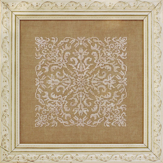 Damask Square by Ink Circles