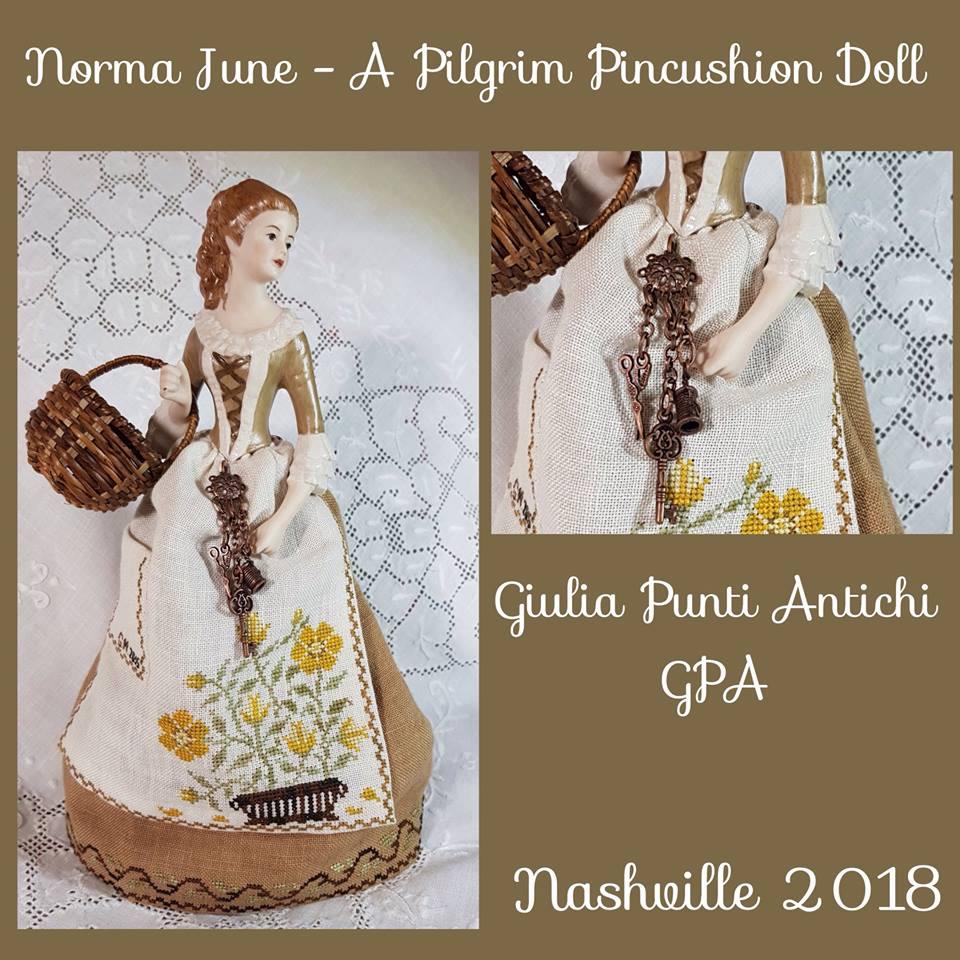 Norma June – A Pilgrim Pincushion Doll by Giulia Punti Antichi
