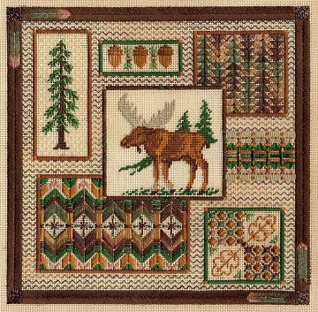 North Woods collage by Laura J Perin Designs